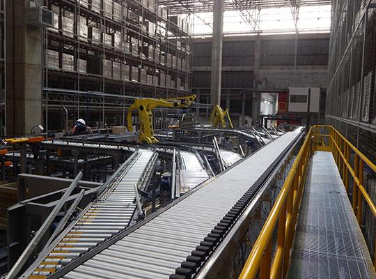 Acumulador para linha de produção
