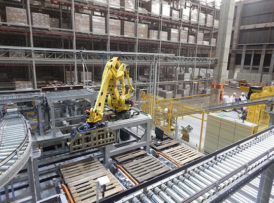 Máquinas Com Integração de Linha Robótica