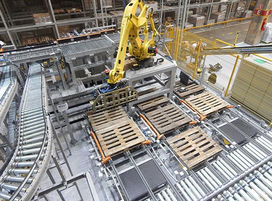 Paletização robótica