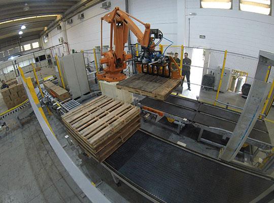 Paletização robotizada