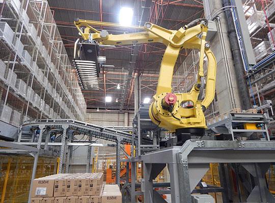 Sistema de Paletização com Robôs