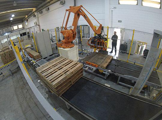 Sistema de Paletização Robotizado